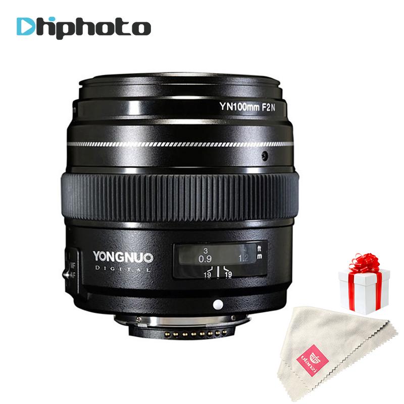 [해외]영남 100mm 렌즈 F2N AF / MF 대형 조리개 표준 중형 망원 프라임 고정 초점 YN100mm 렌즈 용 Nikon D7200 D7100 D5600/YONGNUO 100mm Lens F2N AF/MF Large Aperture Standard Medium