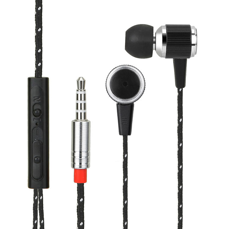 패브릭 케이블 메탈 이어폰 이어폰 스테레오 핸즈프리 HeadsetMic iPhone for iPhone Galaxy HTC/Fabric Cable Metal Earphone Earbuds Stereo Handsfree HeadsetMic Microphone fo