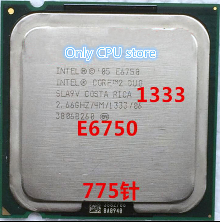 무료 배송 Core 2 Duo E6750 4MB 2.66GHz 775 핀 쿼드 코어 65W CPU procssor scrattered pieces